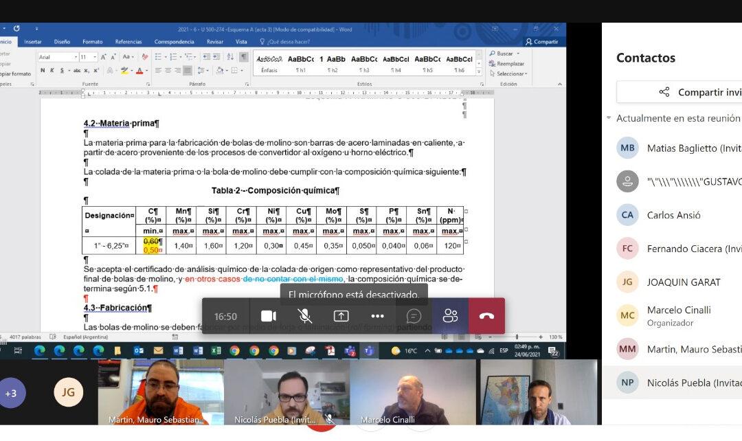 Continua el análisis técnico de bienes de Industria Nacional para la Mineria Argentina