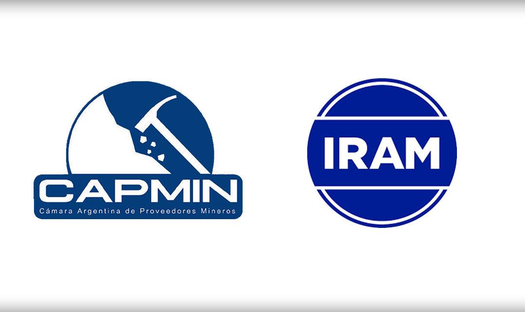 Convenio marco de cooperación institucional entre CAPMIN y el IRAM